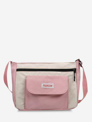 Casual Letter Colorblock Crossbody Bag