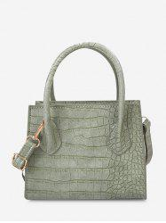 Textured Square Solid Handbag -