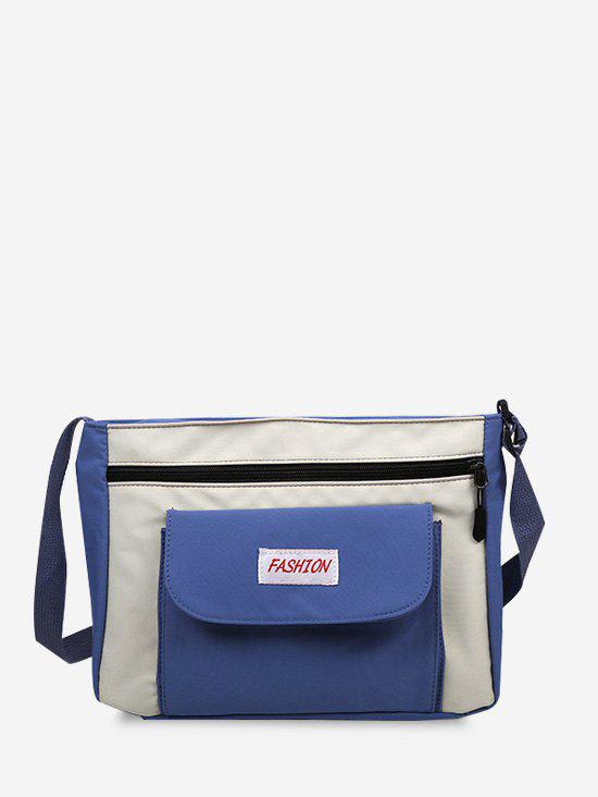 Shops Casual Letter Colorblock Crossbody Bag