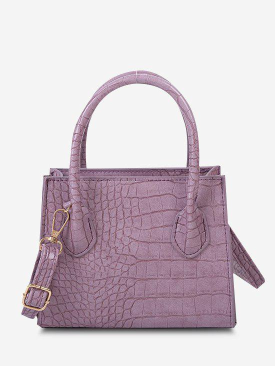 Outfits Textured Square Solid Handbag