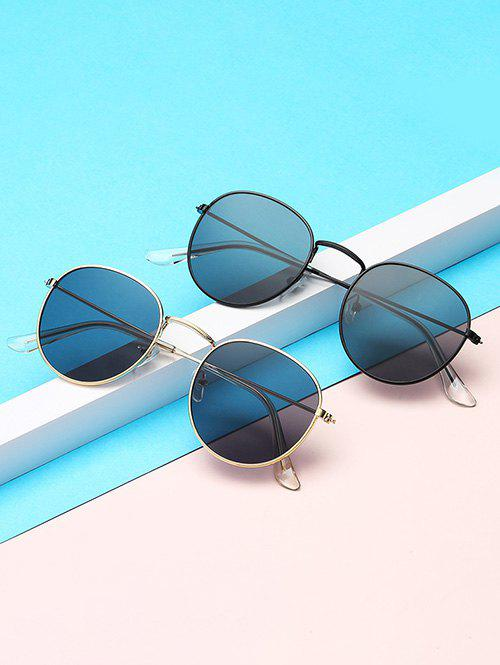 Fancy Metal Anti UV Circular Sunglasses