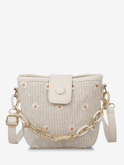 Outfit Daisy Woven Spliced Shoulder Bag