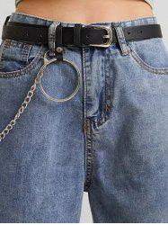 Ring Chain Pin Buckle Belt -