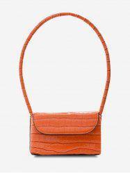 Boxy Embossed Mini Shoulder Bag -