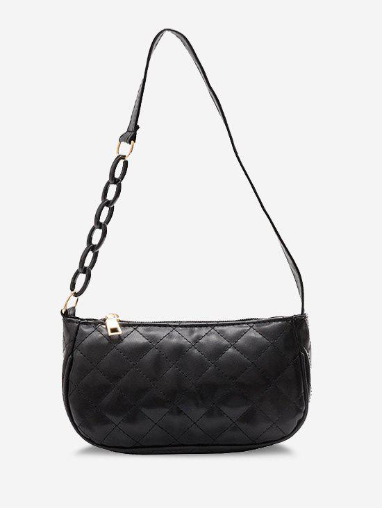 New Lattice Quilted Half Chain Shoulder Bag
