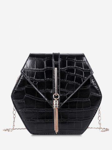 Retro Tassel Irregular Chain Crossbody Bag