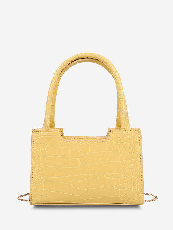 Hot Solid Embossed Double Handle Tote Bag
