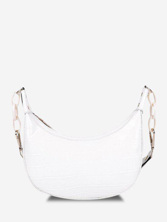 New Embossed Chunky Chain Shoulder Bag