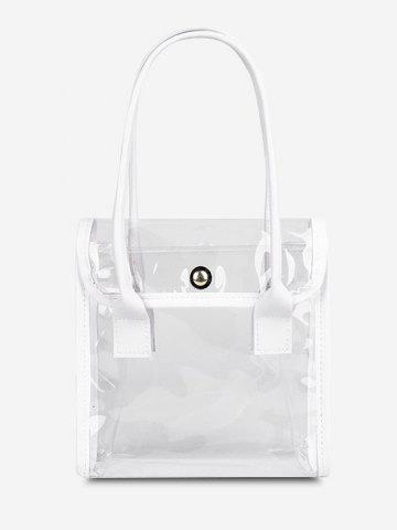 Transparent Binding Flap Tote Bag
