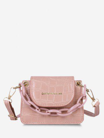Boxy Embossed Mini Crossbody Bag