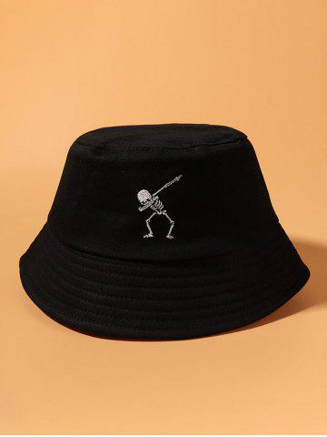 Embroidery Skeleton Pattern Bucket Hat