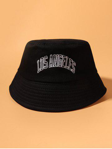 Letter Embroidery Travel Bucket Hat