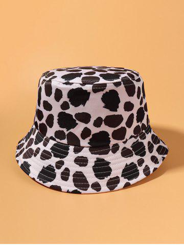 Cow Spot Printed Travel Bucket Hat