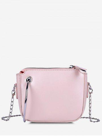 Ring Embellishment Chain Crossbody Bag
