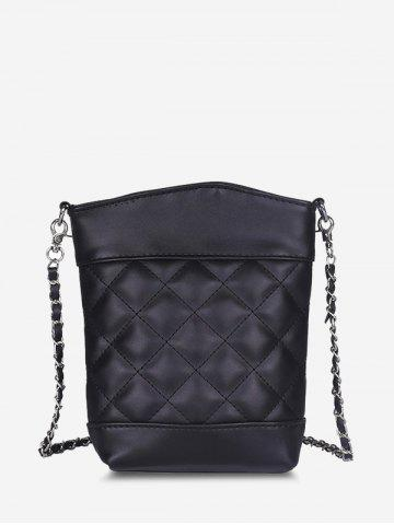 Lattice Quilted Chain Crossbody Bag