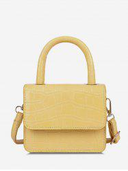 Embossed Dual Handle Flap Crossbody Bag -