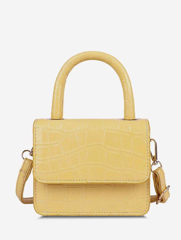 Online Embossed Dual Handle Flap Crossbody Bag