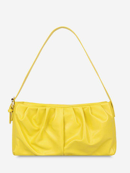 Chic Solid Ruched Soft Shoulder Bag