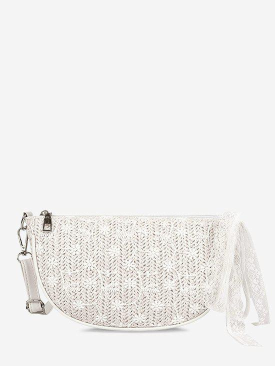 Buy Floral Woven Lace Crossbody Bag