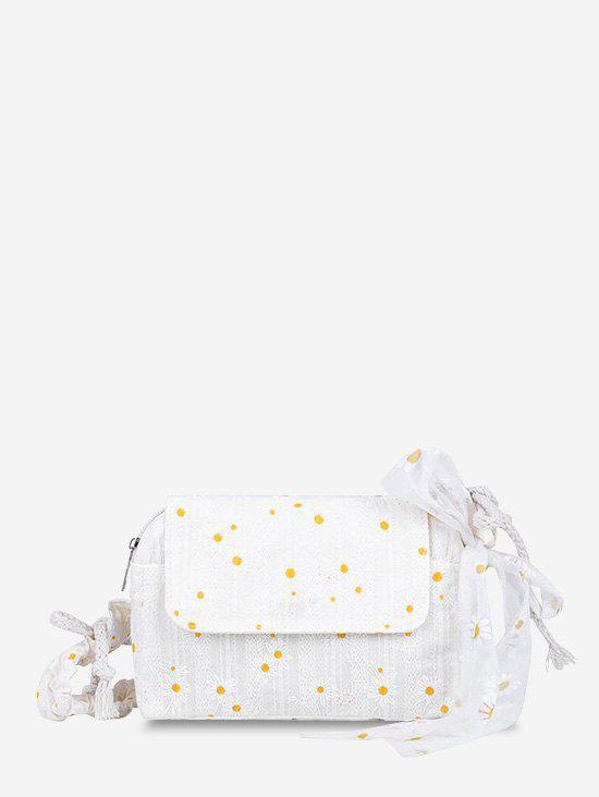 Discount Daisy Embroidered Lace Tied Shoulder Bag