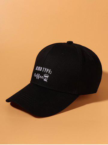 Outdoor Graphic Embroidery Baseball Cap - BLACK