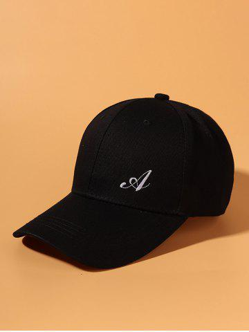 Brief Letter A Embroidery Baseball Cap