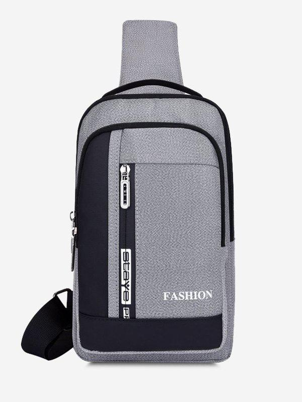 Fashion Multifunctional Letters Print Business Chest Bag