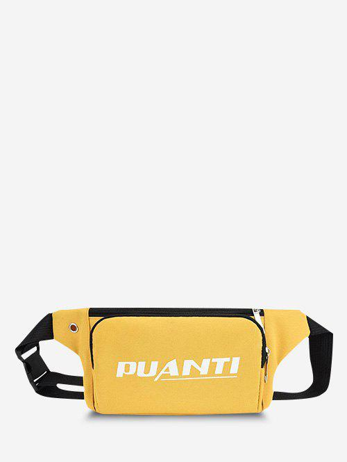 Outfits Casual Letter Printed Sports Chest Waist Bag