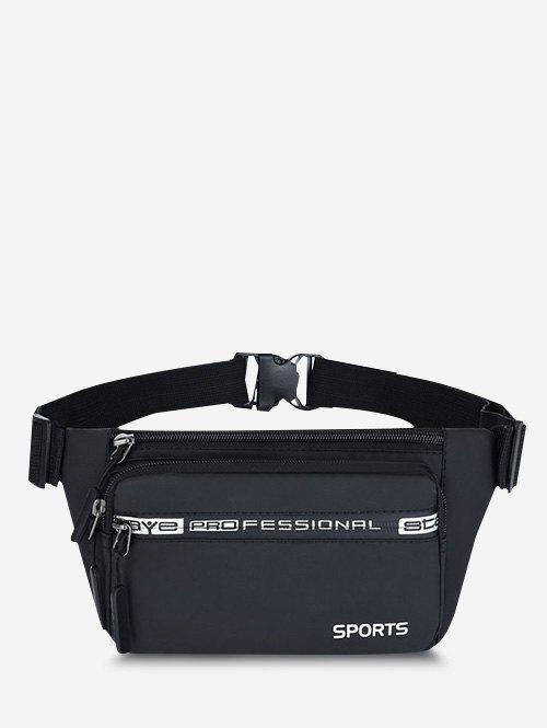 Outfit Sports Letters Pattern Waterproof Waist Bag