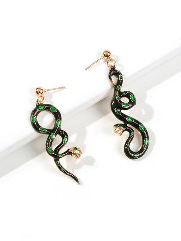 Snake Shape Asymmetric Drop Earrings