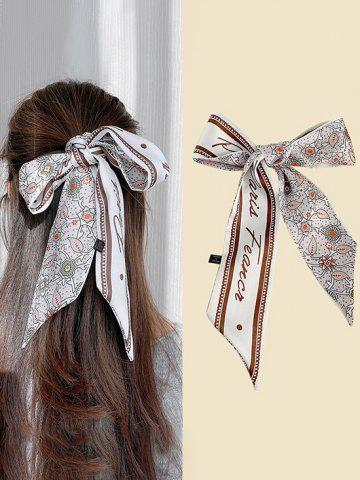 Floral Print Elongated Silky Scarf