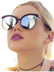 Retro UV Protection Round Hollow Sunglasses -