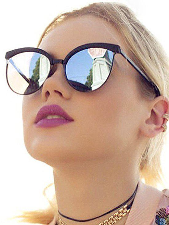 Trendy Retro UV Protection Round Hollow Sunglasses