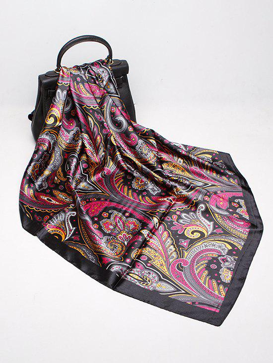 Affordable Paisley Print Faux Silk Scarf