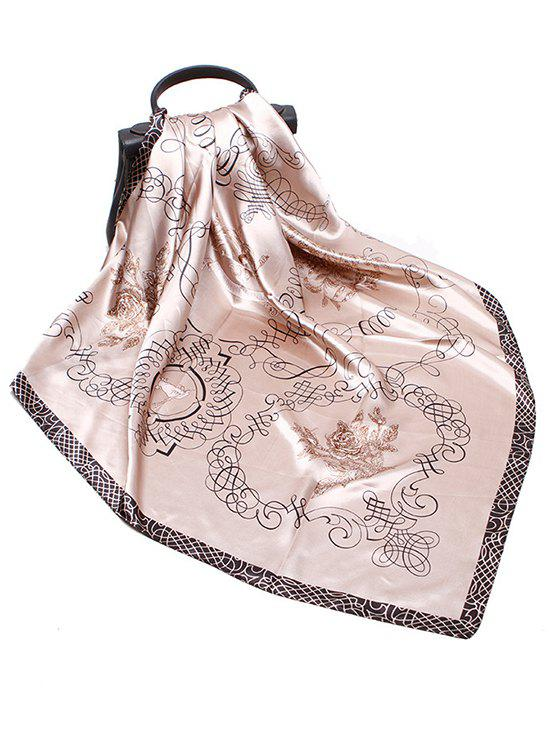 Store Rose Scribble Print Faux Silk Scarf