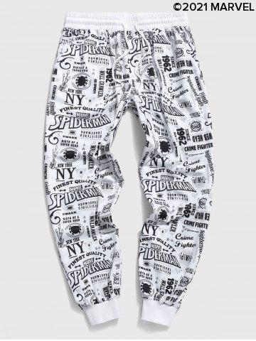 Marvel Spider-Man Graphic Allover Print Jogger Sweatpants