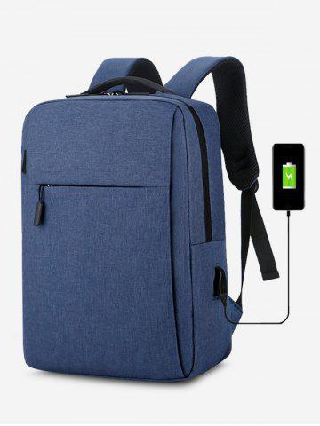 Rectangle Travel Sports USB Interface Backpack