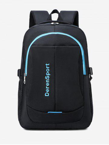 Contrast Letter Pattern Sports Travel Backpack