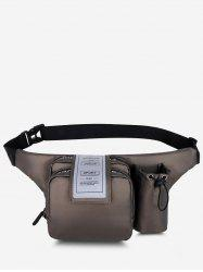 Pockets Multi-functional Letters Chest Bag -