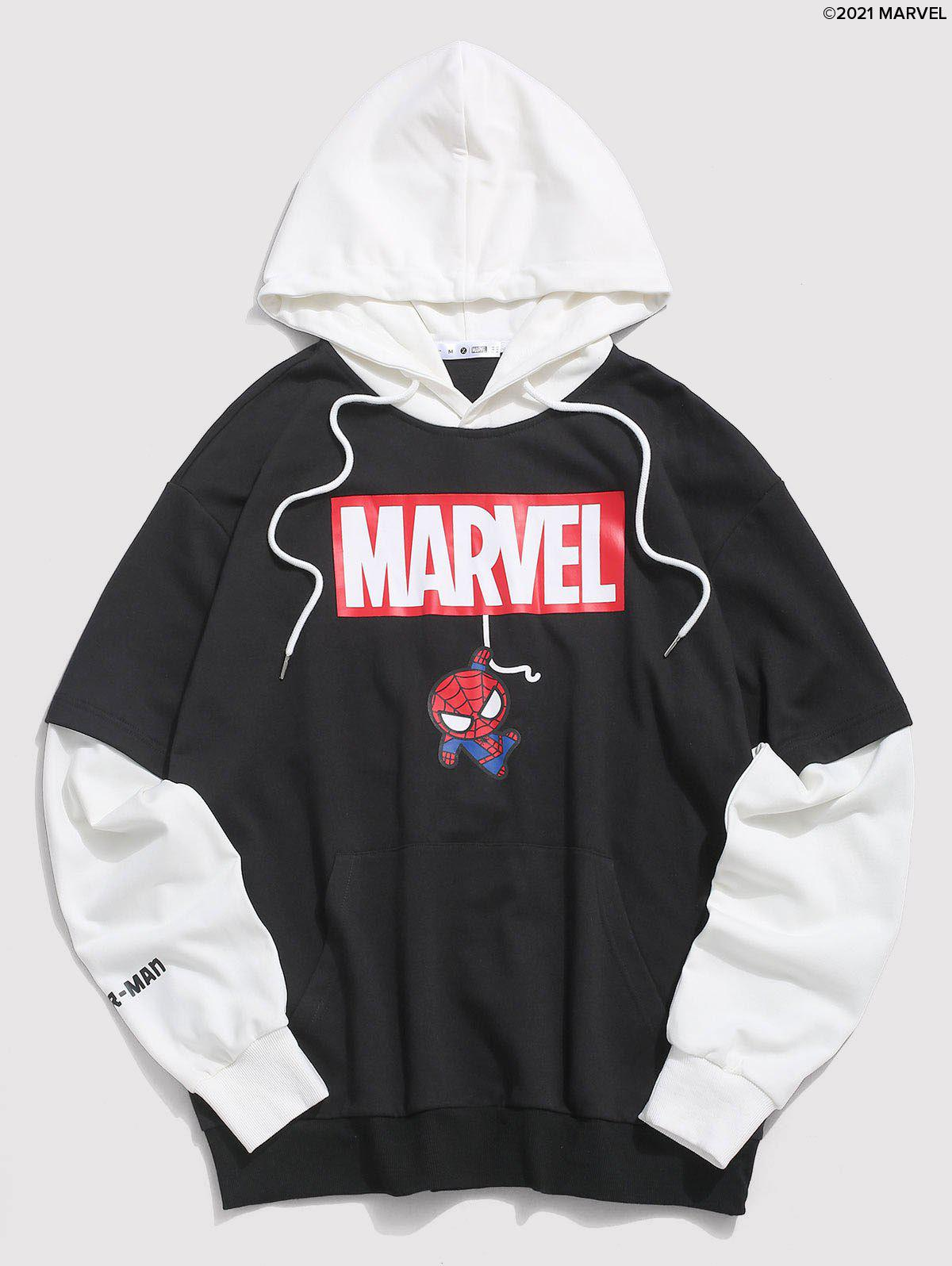 Discount Marvel Spider-Man Faux Twinset Hoodie