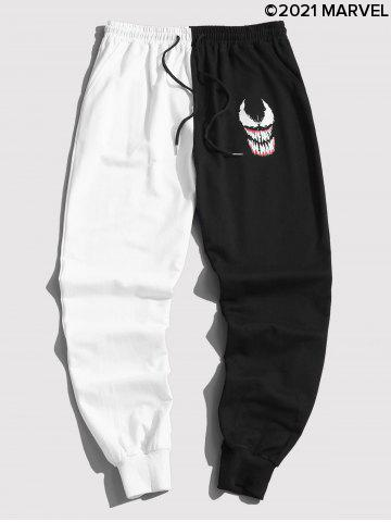 Marvel Spider-Man Venom Print Contrast Drawstring Sweatpants