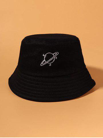 Planet Embroidery Pattern Bucket Hat