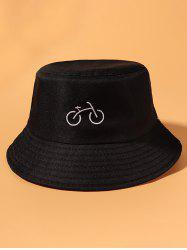 Bicycle Embroidered Casual Bucket Hat -