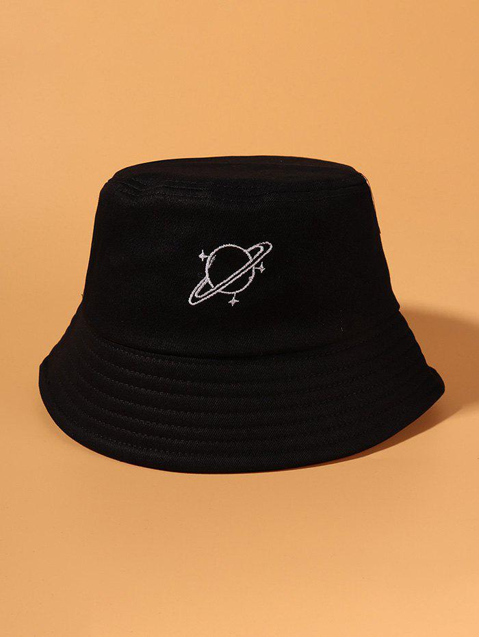 Discount Planet Embroidery Pattern Bucket Hat