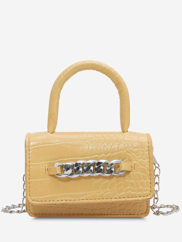 Buy Chunky Chain Embellished Embossed Crossbody Bag