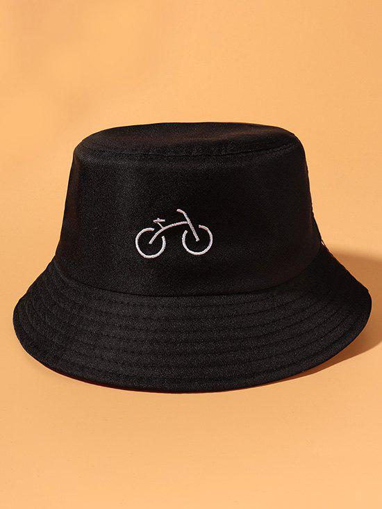 Unique Bicycle Embroidered Casual Bucket Hat