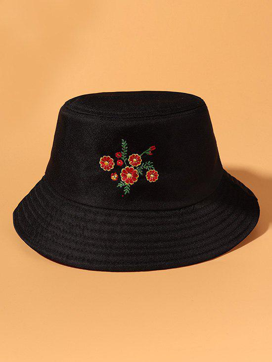 Buy Floral Embroidered Casual Bucket Hat