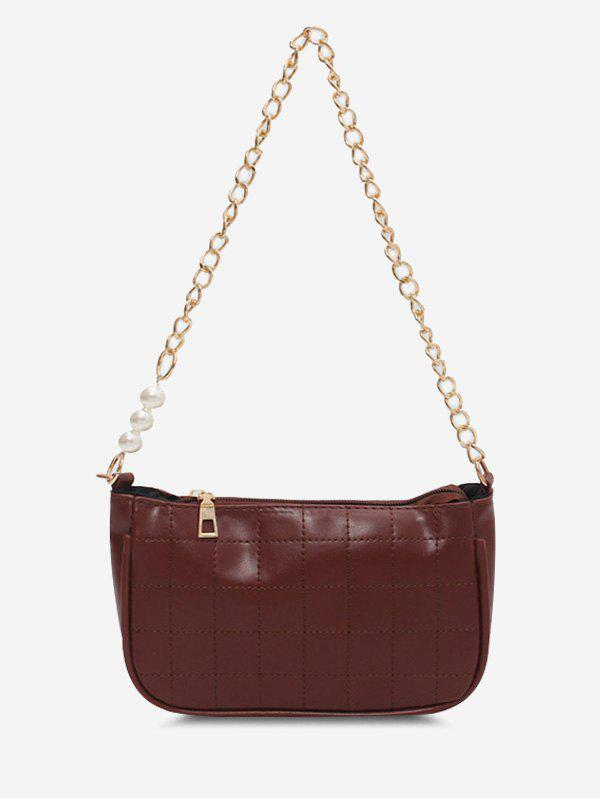 Fashion Faux Pearl Chain Quilted Shoulder Bag