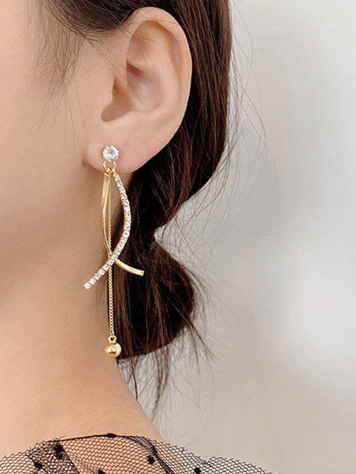 Affordable Rhinestone Embellished Crossed Dangle Earrings