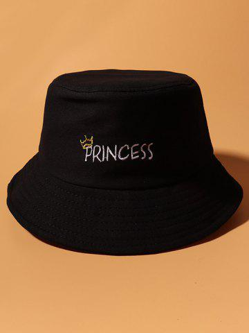 Letters Crown Pattern Embroidery Bucket Hat